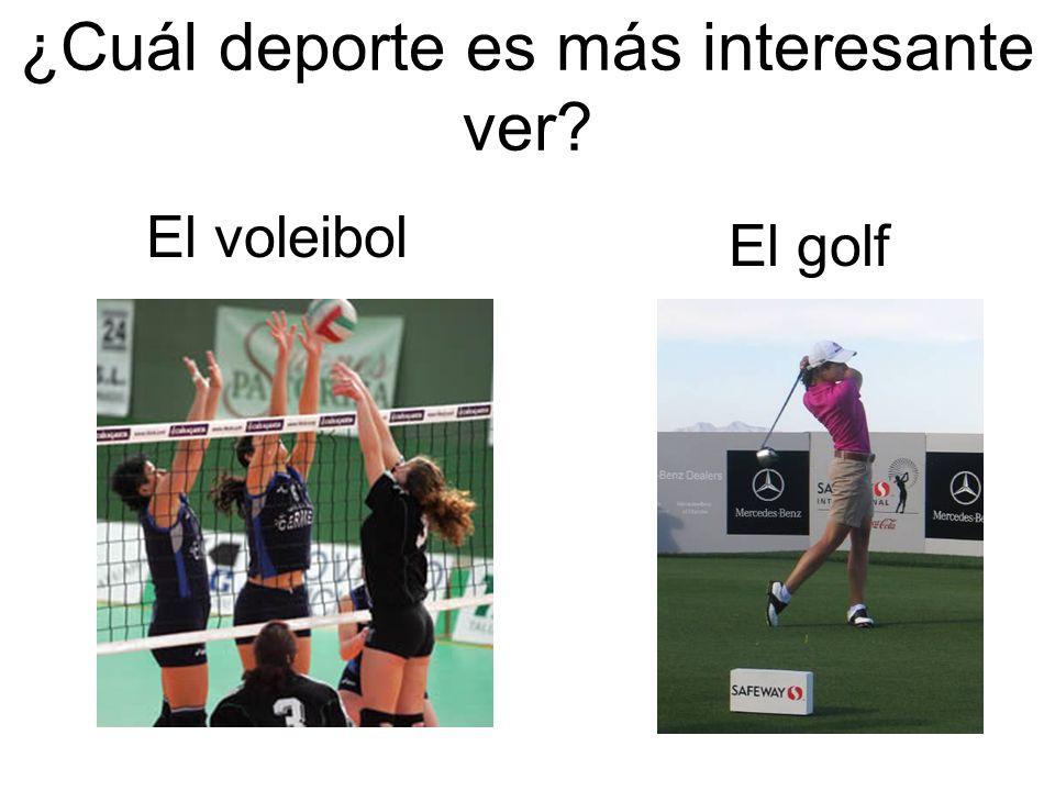 ¿Cuál deporte es más interesante ver