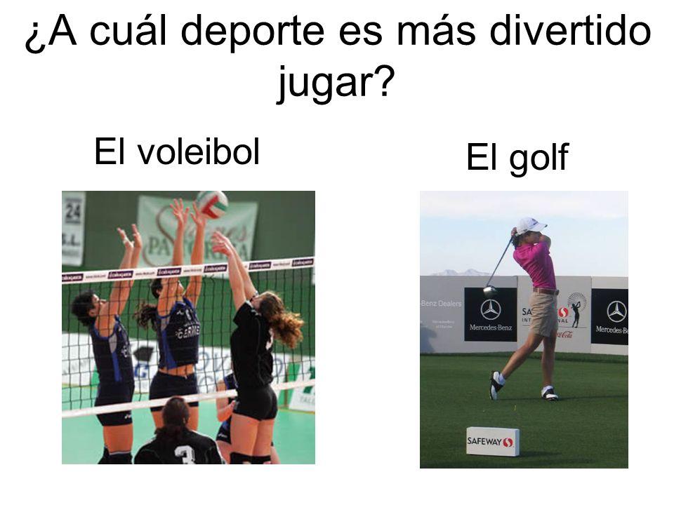 ¿A cuál deporte es más divertido jugar