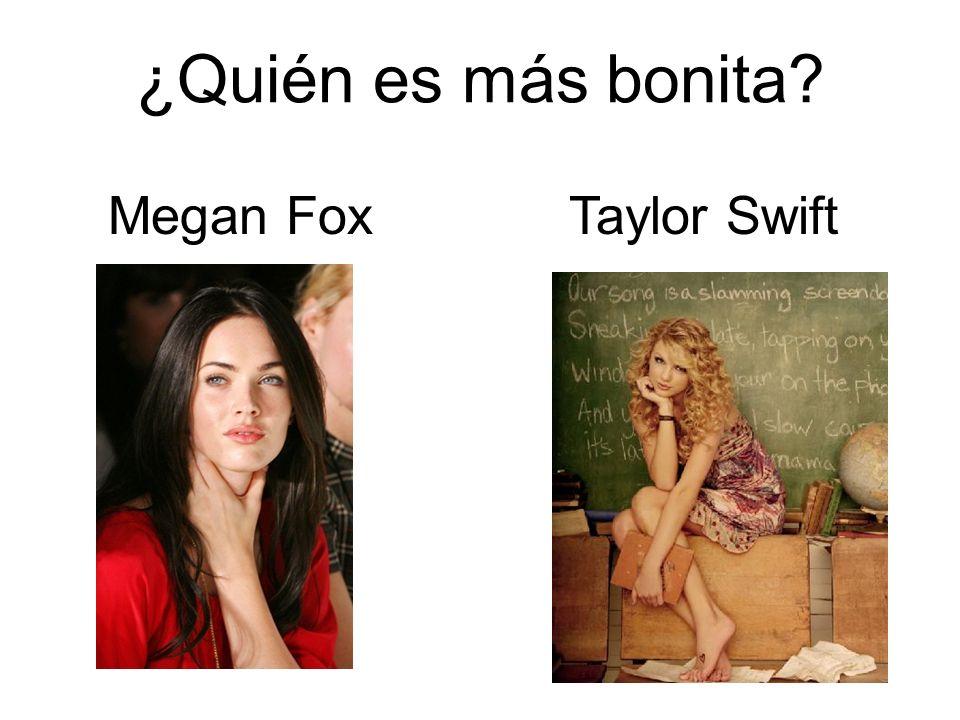 ¿Quién es más bonita Megan Fox Taylor Swift