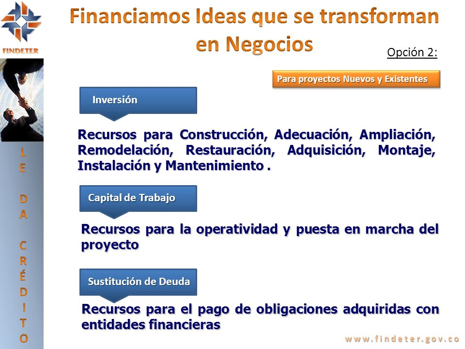 Financiamos Ideas que se transforman en Negocios