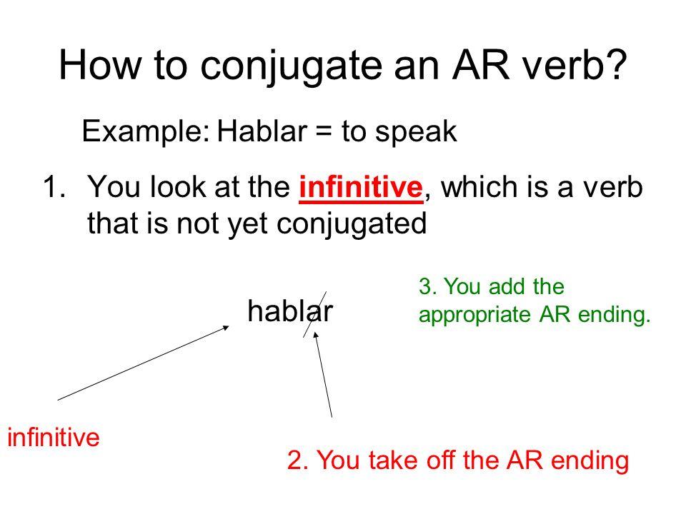 How to conjugate an AR verb