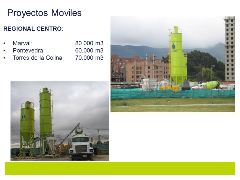 Proyectos Moviles REGIONAL CENTRO: Marval: 80.000 m3