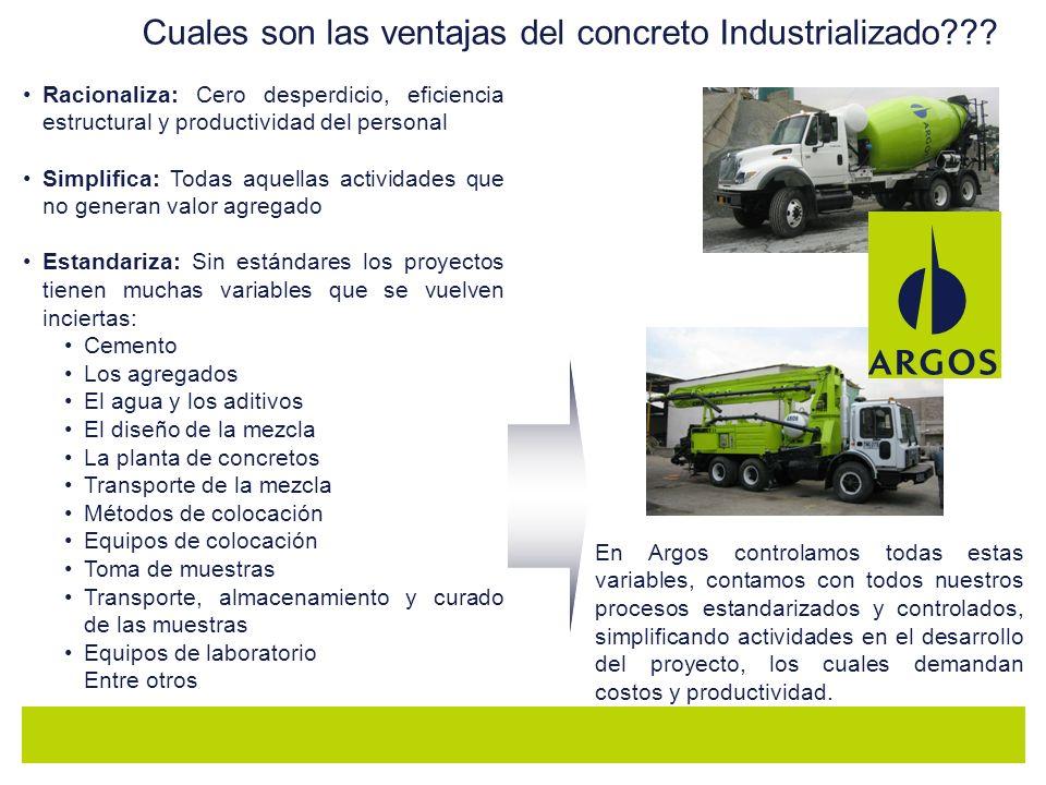Cuales son las ventajas del concreto Industrializado