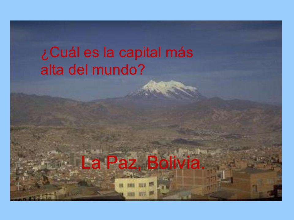 ¿Cuál es la capital más alta del mundo