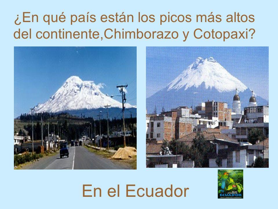 En el Ecuador ¿En qué país están los picos más altos