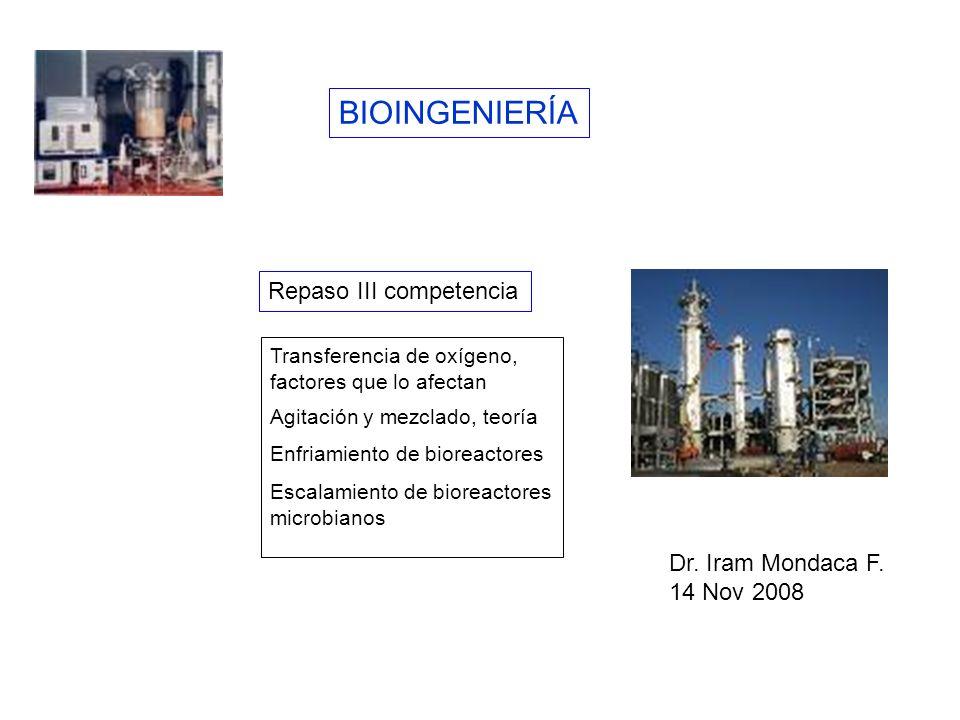 BIOINGENIERÍA Repaso III competencia Dr. Iram Mondaca F. 14 Nov 2008