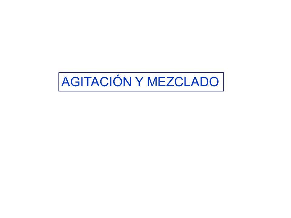 AGITACIÓN Y MEZCLADO
