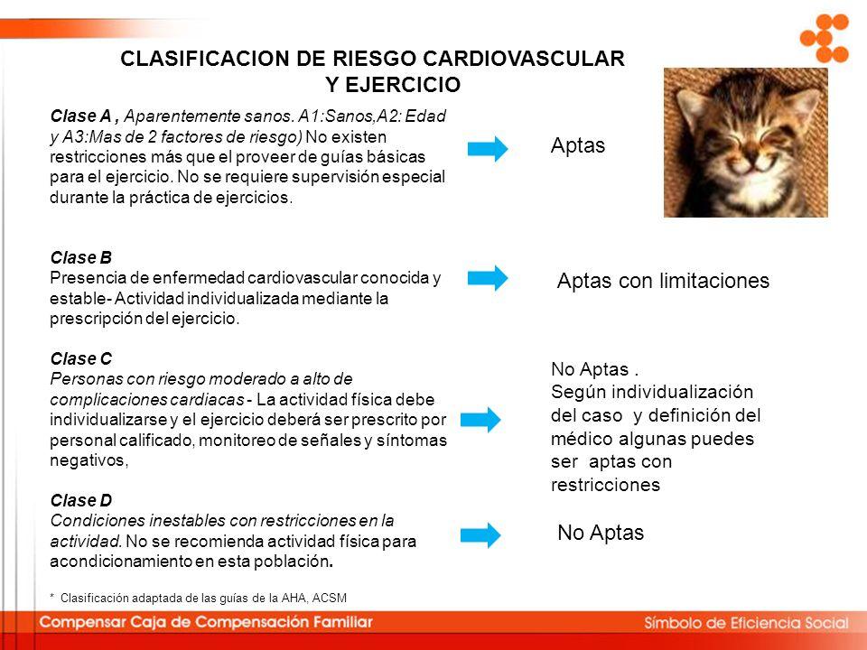 CLASIFICACION DE RIESGO CARDIOVASCULAR