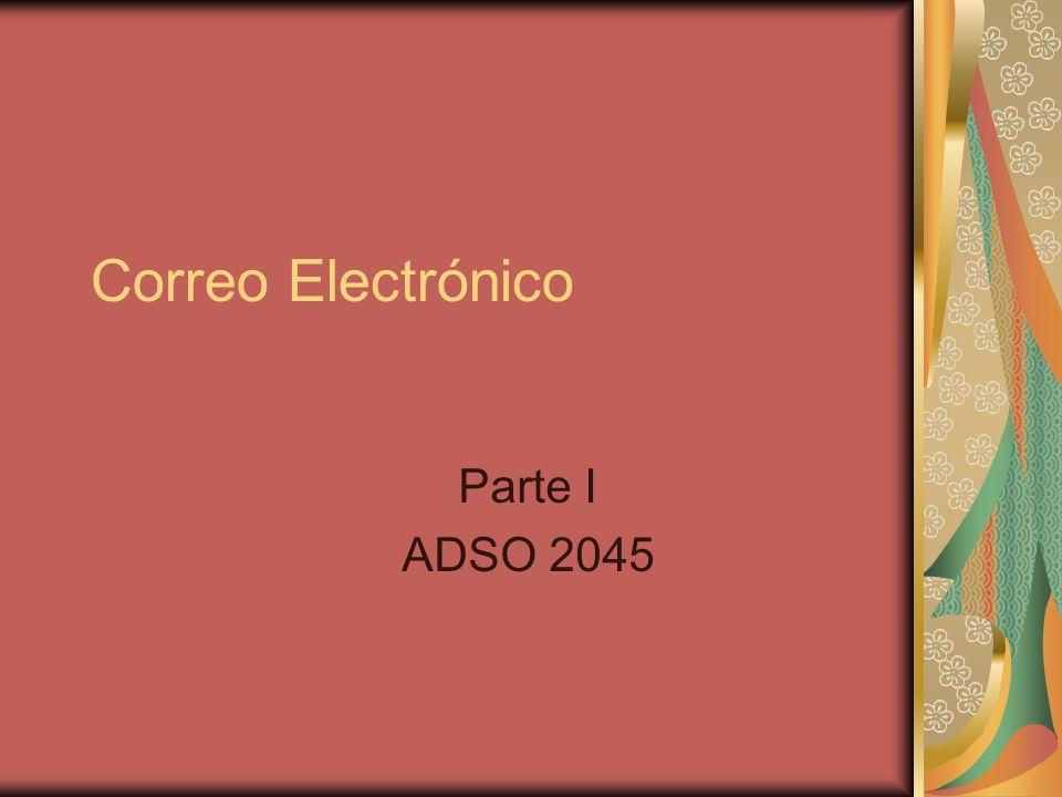 Correo Electrónico Parte I ADSO 2045