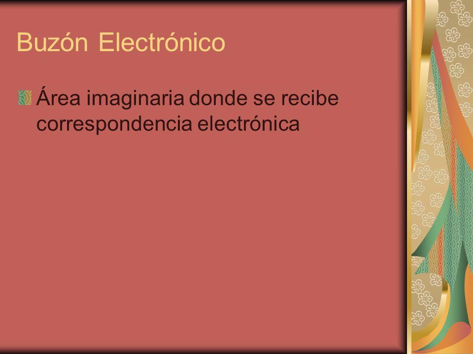 Buzón Electrónico Área imaginaria donde se recibe correspondencia electrónica