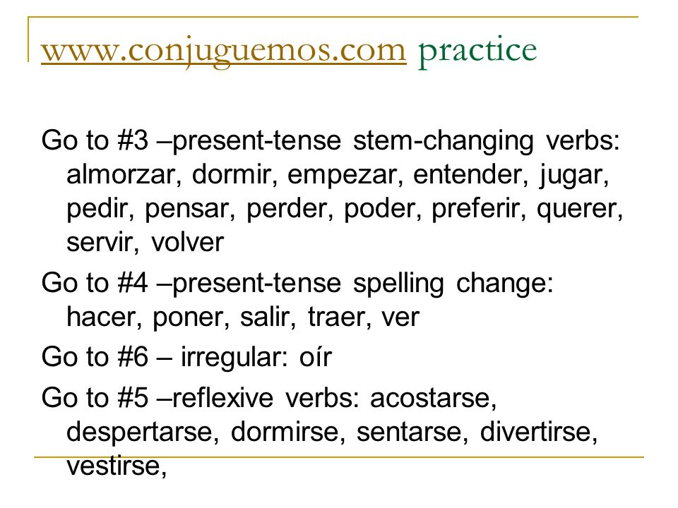 www.conjuguemos.com practice