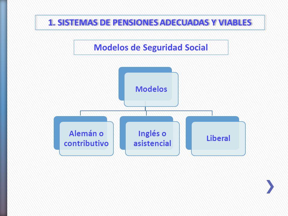 1. SISTEMAS DE PENSIONES ADECUADAS Y VIABLES