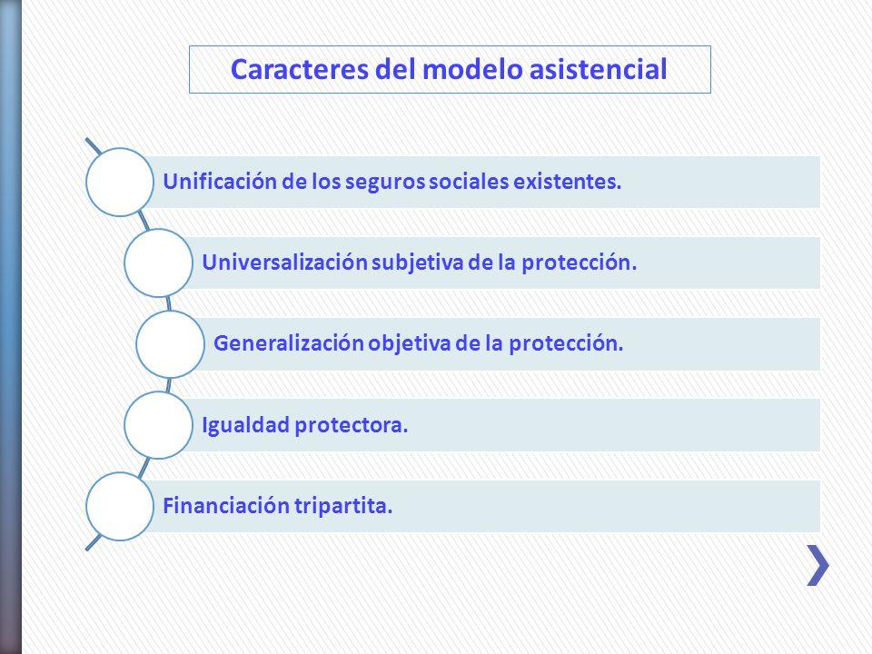 Caracteres del modelo asistencial