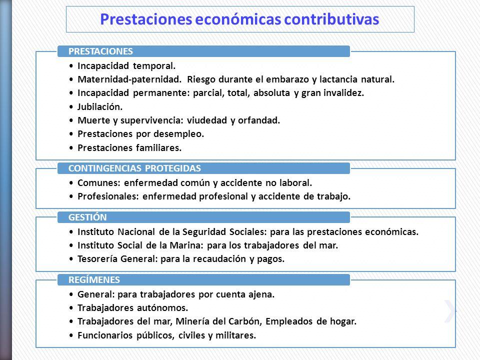 Prestaciones económicas contributivas