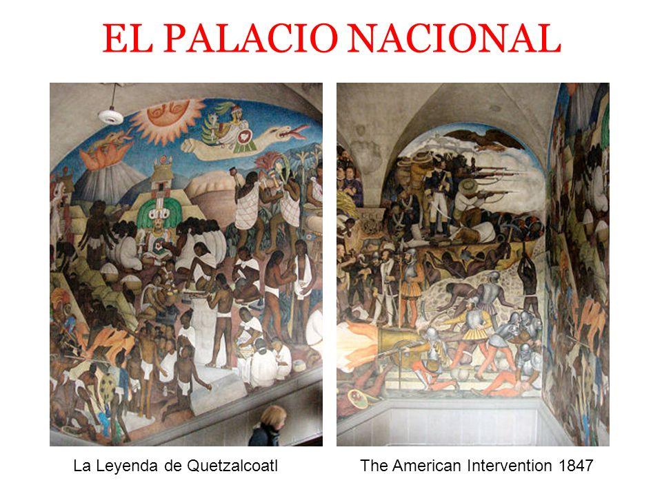 EL PALACIO NACIONAL La Leyenda de Quetzalcoatl