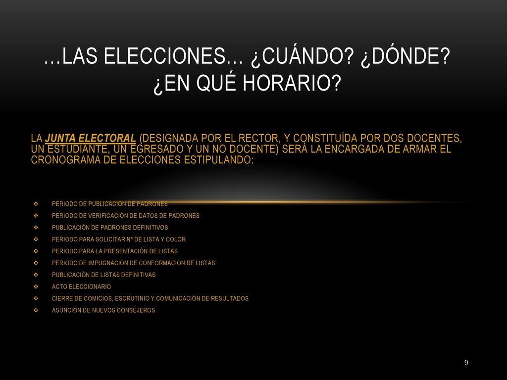 ELECCIONES DE CONSEJEROS - ppt descargar