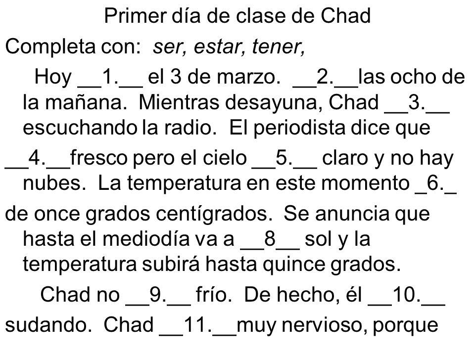 Primer día de clase de Chad