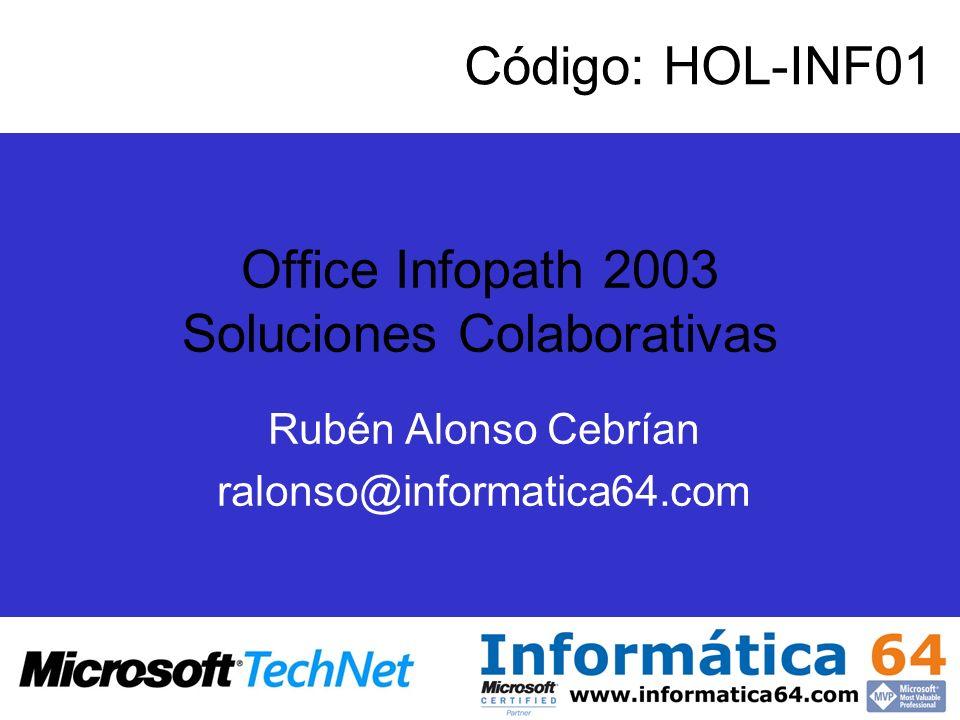 Office Infopath 2003 Soluciones Colaborativas