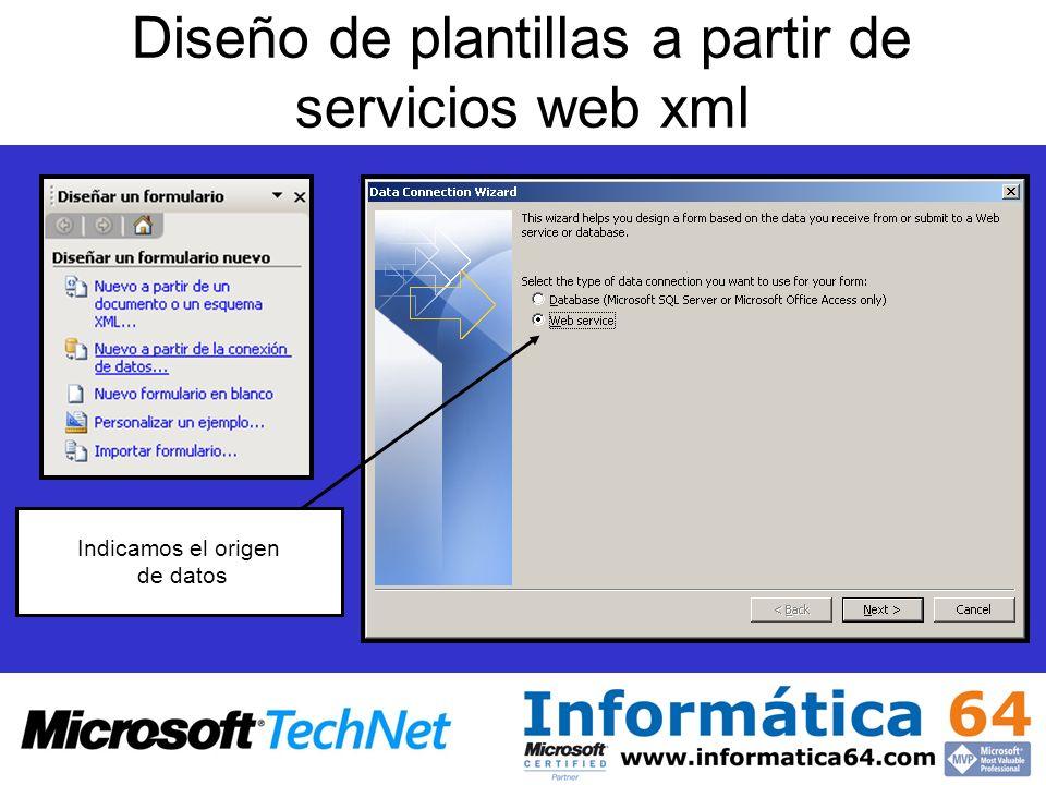 Diseño de plantillas a partir de servicios web xml