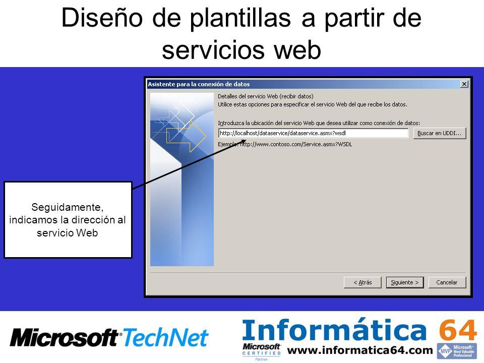 Diseño de plantillas a partir de servicios web