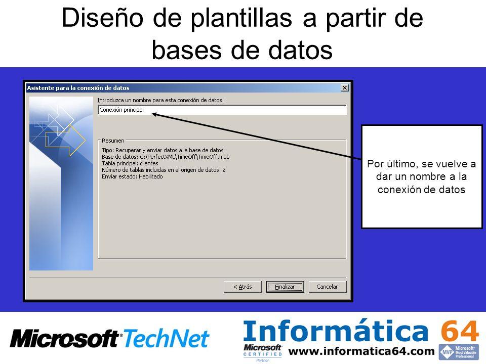 Diseño de plantillas a partir de bases de datos