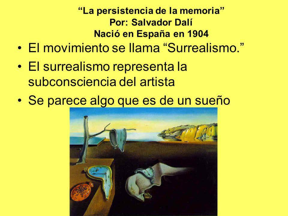 El movimiento se llama Surrealismo.