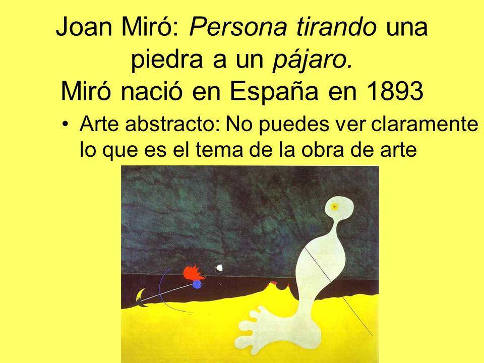 Joan Miró: Persona tirando una piedra a un pájaro