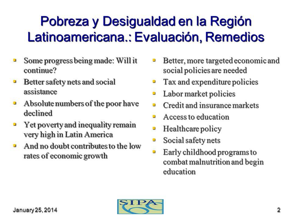 Pobreza y Desigualdad en la Región Latinoamericana