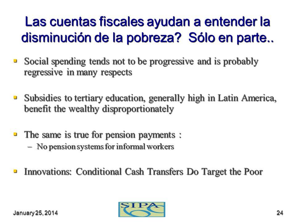 Las cuentas fiscales ayudan a entender la disminución de la pobreza
