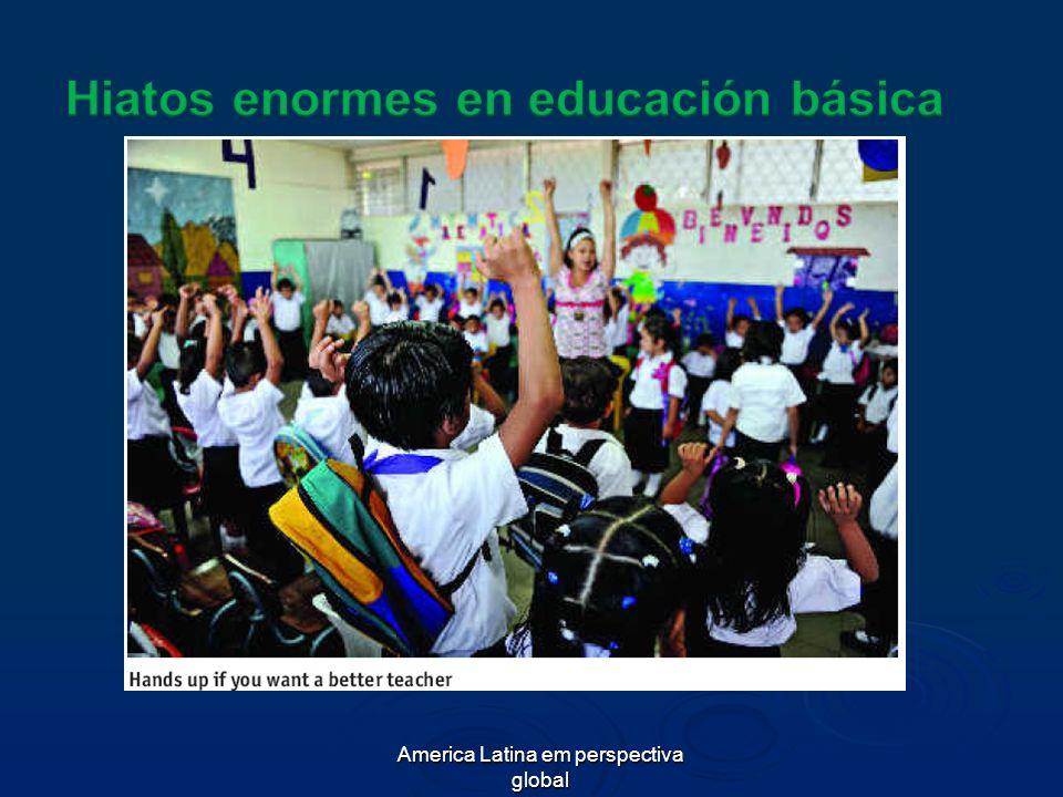 Hiatos enormes en educación básica