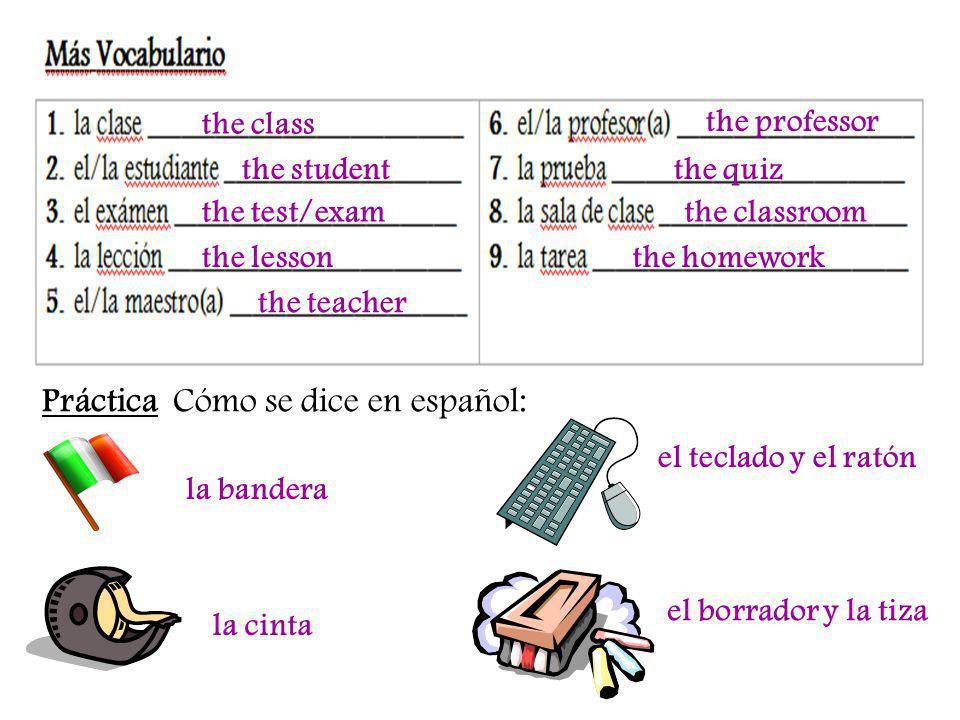 Práctica Cómo se dice en español: