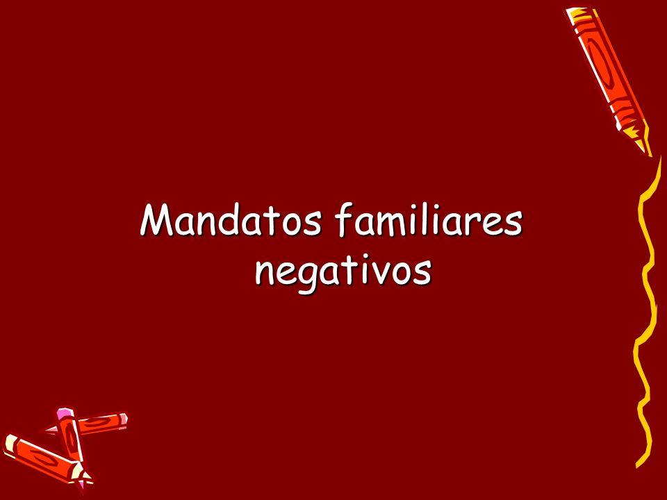 Mandatos familiares negativos