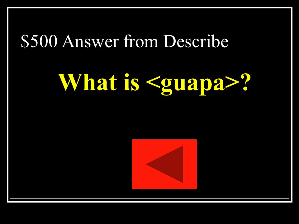 $500 Answer from Describe What is <guapa>