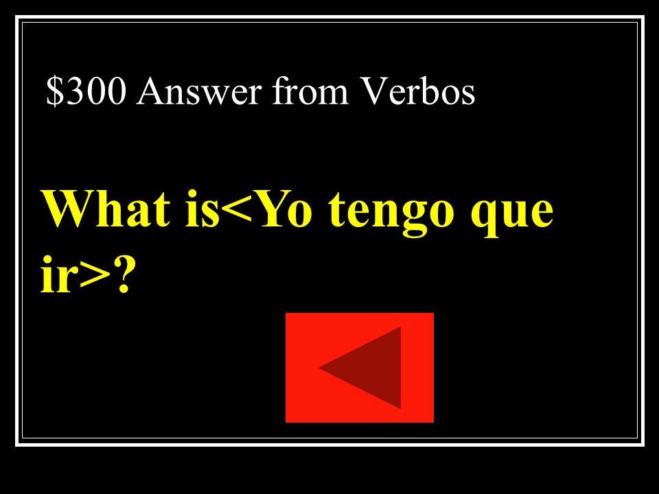 What is<Yo tengo que ir>