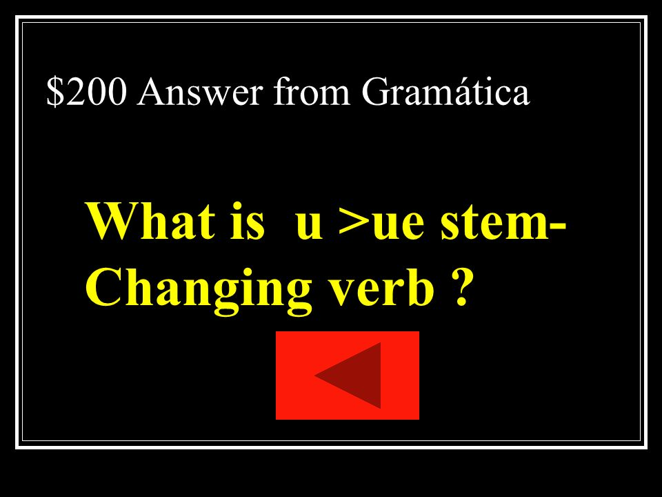 $200 Answer from Gramática