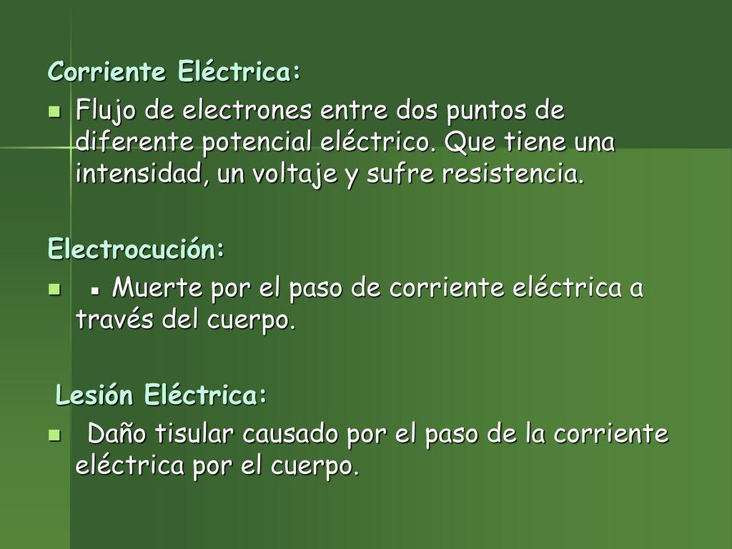Cuidados en Electrocución - ppt descargar