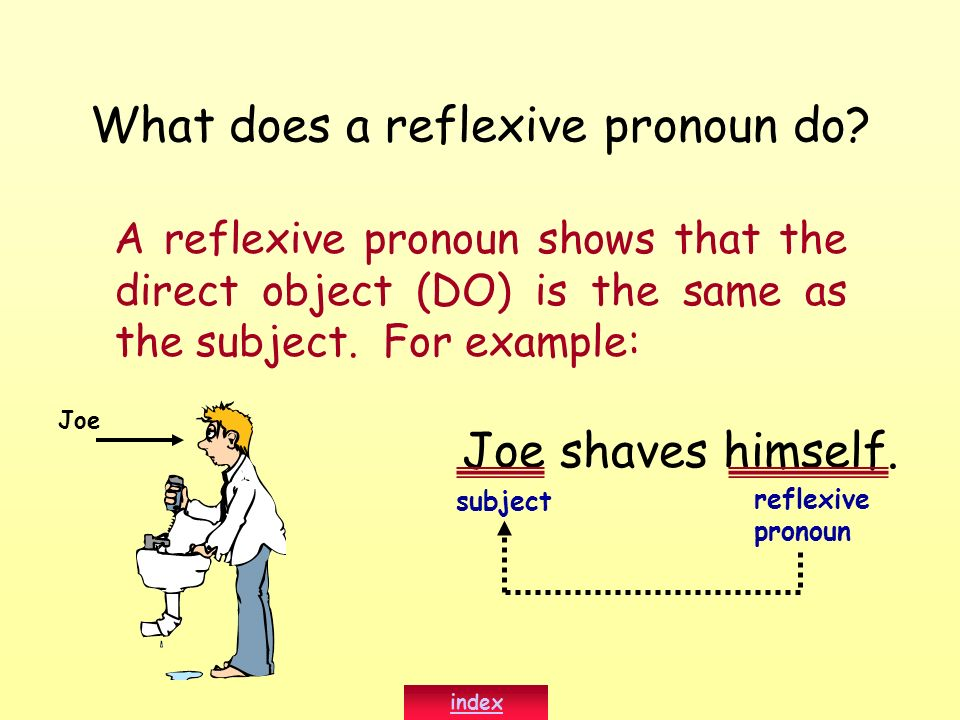 What does a reflexive pronoun do
