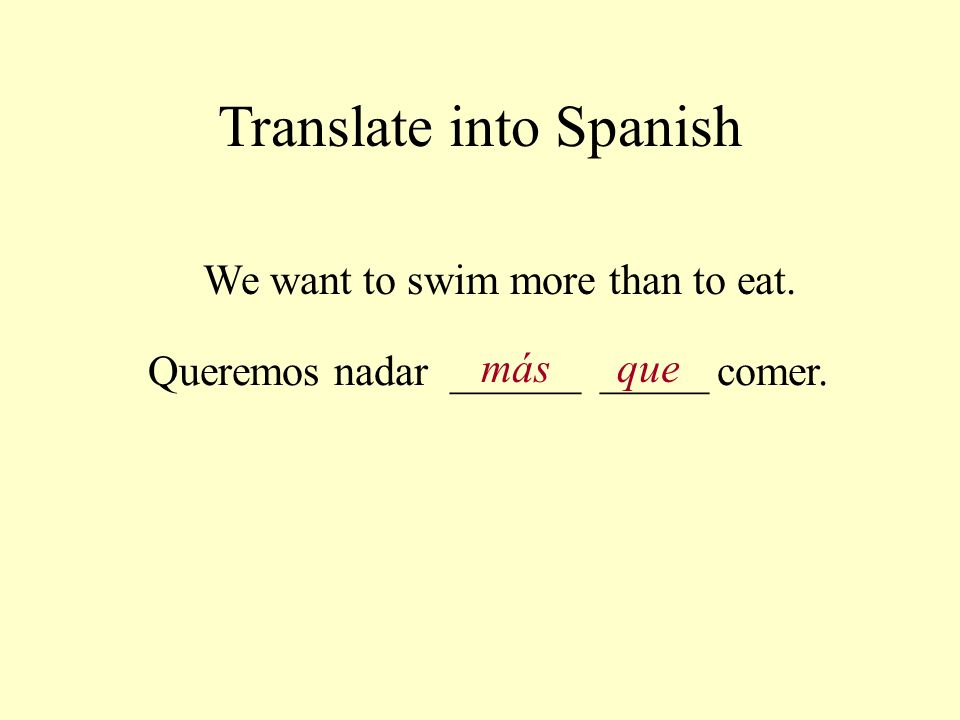 Translate into Spanish