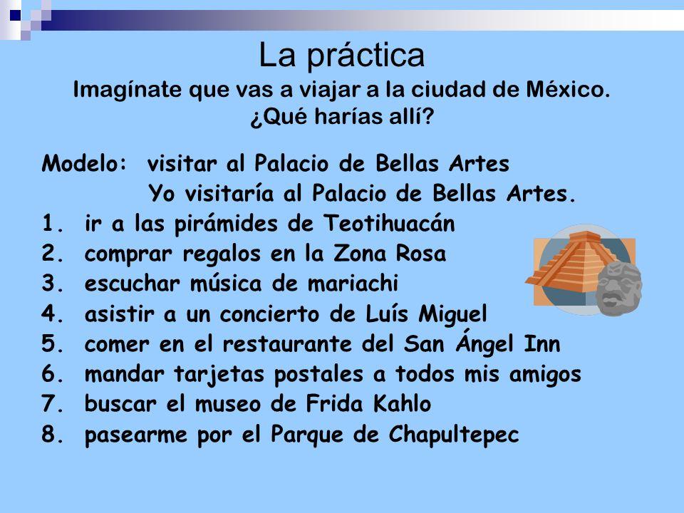 La práctica Imagínate que vas a viajar a la ciudad de México