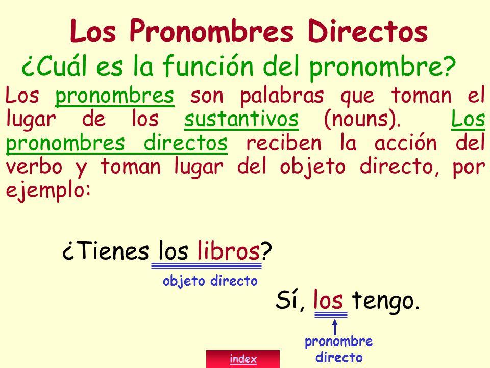 ¿Cuál es la función del pronombre