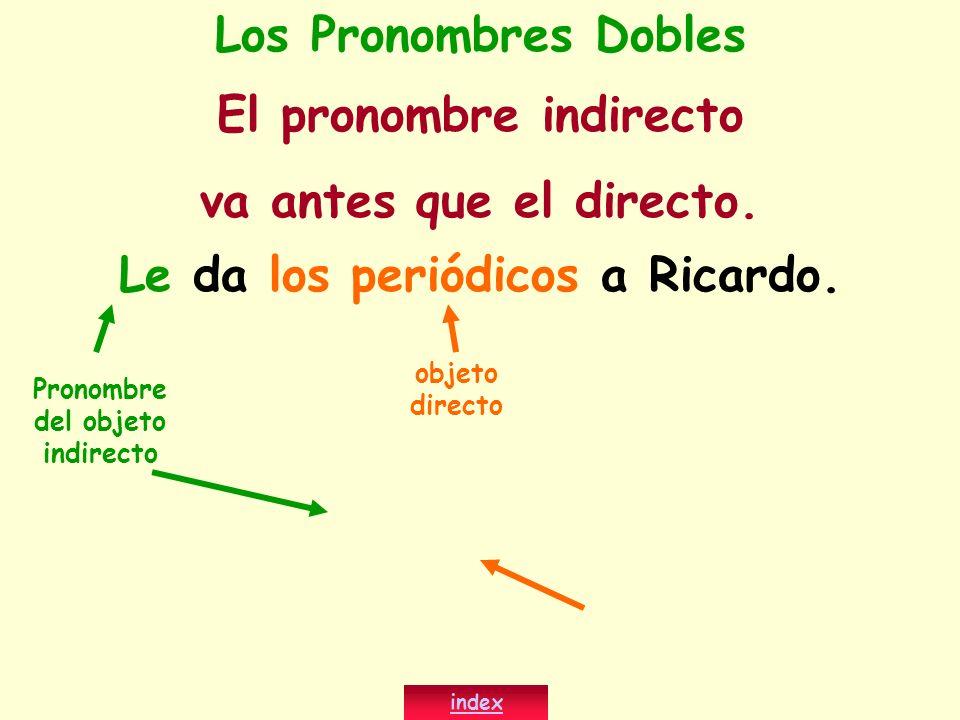 El pronombre indirecto va antes que el directo.