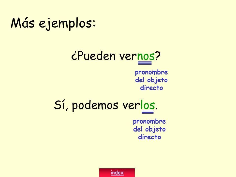 pronombre del objeto directo pronombre del objeto directo