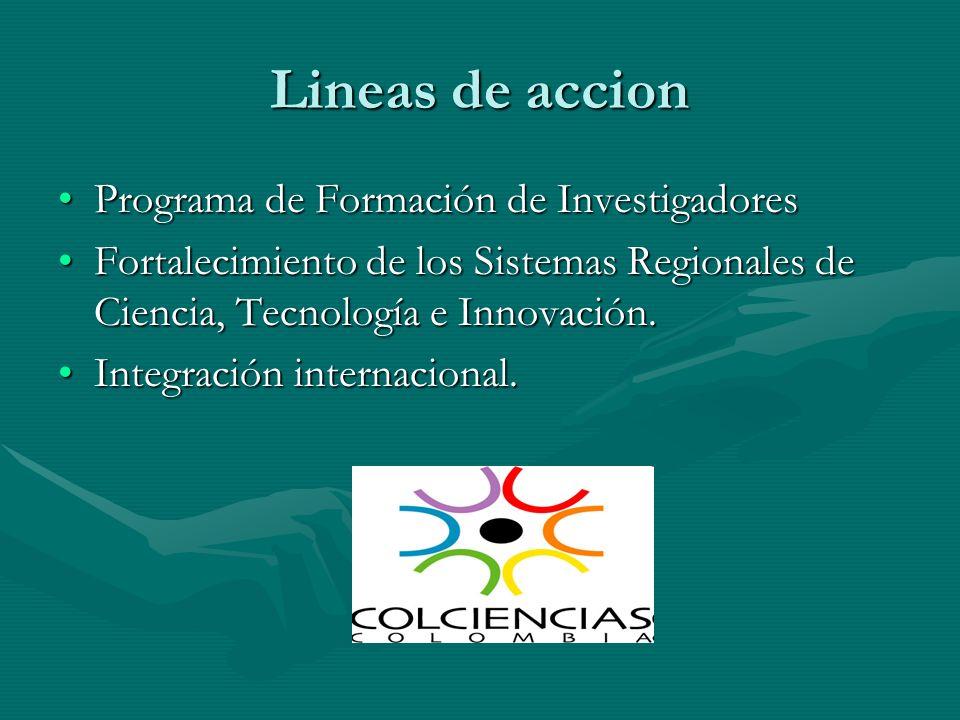 Lineas de accion Programa de Formación de Investigadores