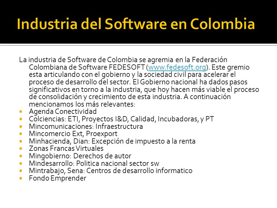 Industria del Software en Colombia