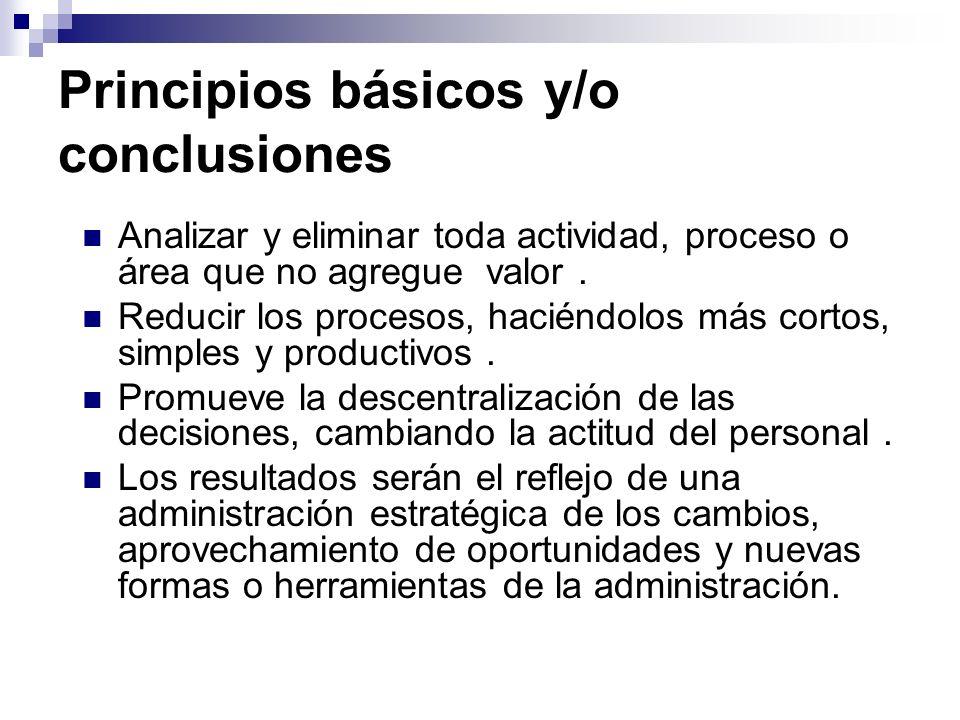 Principios básicos y/o conclusiones