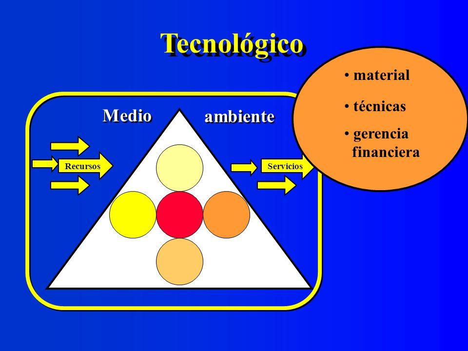 Tecnológico Medio ambiente material técnicas gerencia financiera