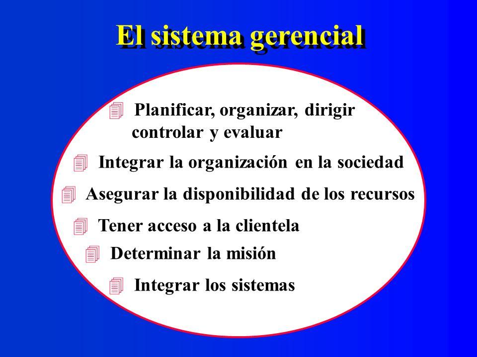 El sistema gerencial Planificar, organizar, dirigir