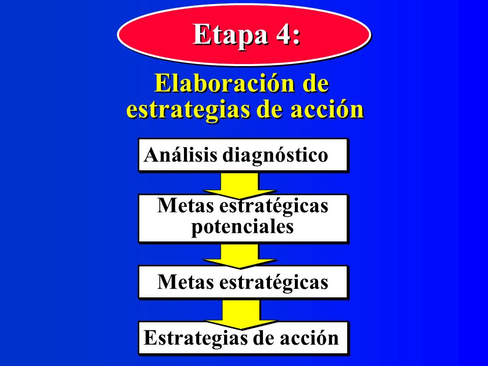 Etapa 4: Elaboración de estrategias de acción Análisis diagnóstico