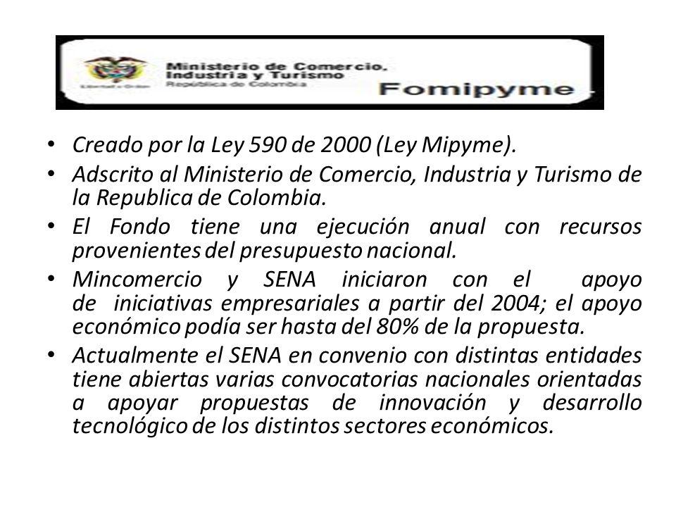 Creado por la Ley 590 de 2000 (Ley Mipyme).
