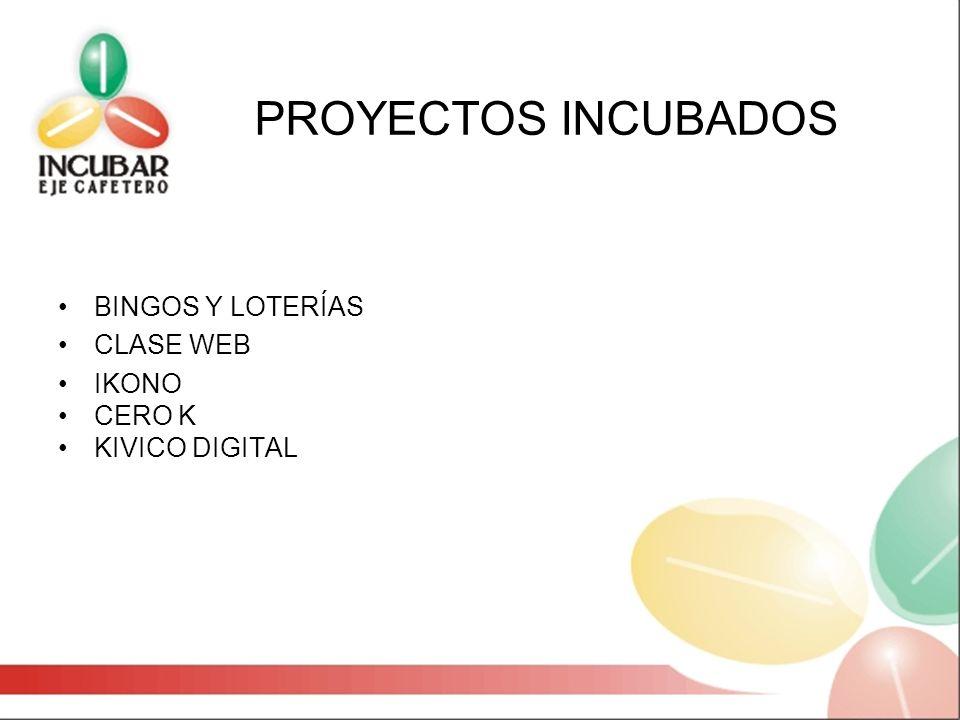 PROYECTOS INCUBADOS BINGOS Y LOTERÍAS CLASE WEB IKONO CERO K